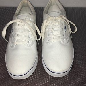 Women vans white sneakers